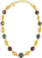 Jose & Maria Barrera Cloisonné & Hammered Beaded Necklace, Multi