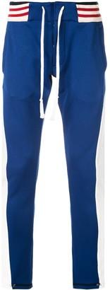 Greg Lauren Colour Blocked Skinny Trousers