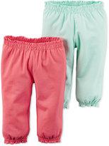 Carter's Baby Girls' 2-Pack Hello Cutie Ruffle-Waist Pants