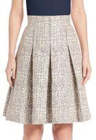 Akris Punto Cross-Stitch Jacquard A-Line Skirt