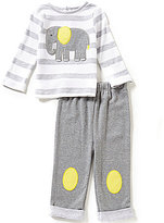 Starting Out Baby Boys 12-24 Months Elephant-Appliqued Top and Pull-On Pants Set