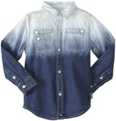 Splendid Chambray Dyed Woven Top (Toddler/Kid) - Chambray-7