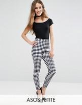 Asos Gingham Print Scuba Skinny Pants