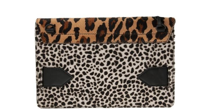 Derek Lam 10 Crosby Mixed Leopard Folio Clutch