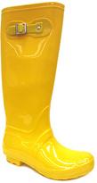 Bamboo Yellow Buckle Padinton Jelly Rain Boot