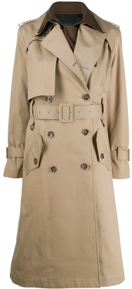 Eudon Choi Belted Two-Tone Trench Coat