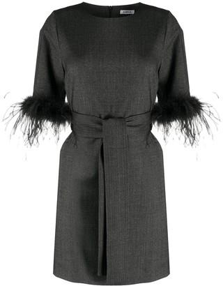P.A.R.O.S.H. Feather Trim Dress