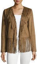 Tularosa Cade Faux-Suede Fringe Jacket, Camel