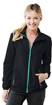 Lands' End Women's Active Woven Jacket-Black Houndstooth