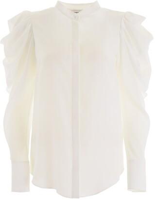 Alexander McQueen Draped Sleeves Blouse