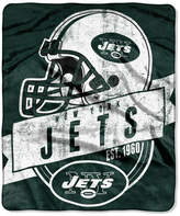 Northwest Company New York Jets Grand Stand Plush Throw Blanket