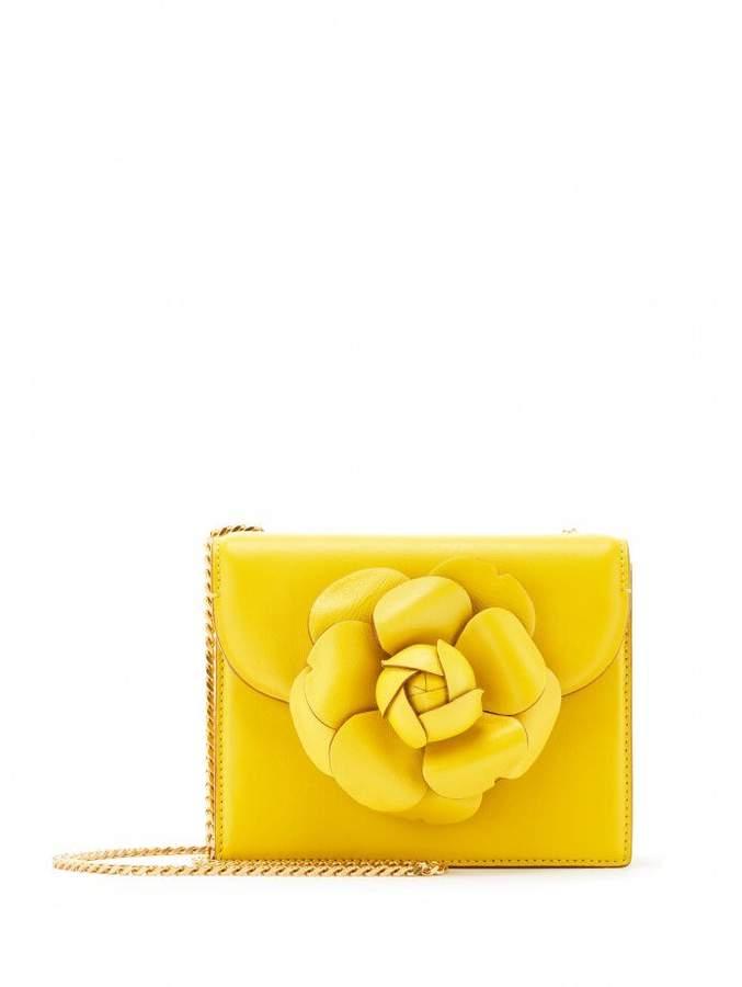 Oscar de la Renta Canary Leather Mini TRO Bag