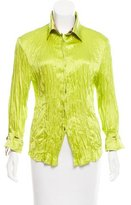 Roberto Cavalli Silk Pleated Blouse