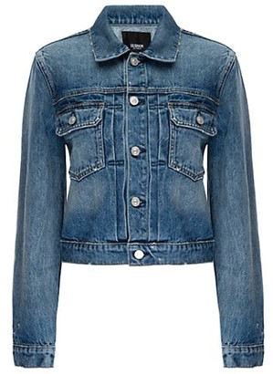 Hudson Lola Shrunken Denim Trucker Jacket