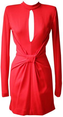 Balmain Red Wool Dresses