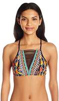 Nanette Lepore Women's Mozambique Stargazer High Neck Strappy Cropped Top
