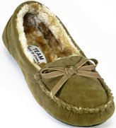 DEV Women Winter Comfortable Fur Moccasin Round Toe Slip on Flat Ballerina Ballet casual Sleeper Loafer Shoes....