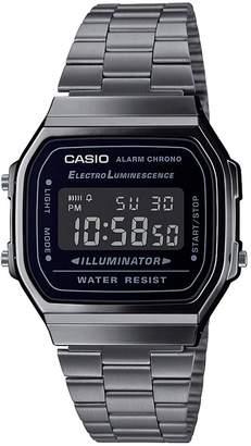 Casio Retro Grey Digital Dial Gunmetal Grey Stainless Steel Bracelet Watch