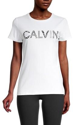 Calvin Klein Logo Stretch-Cotton Tee