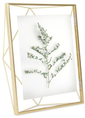 Umbra 20 x 25cm Glass and Metal Prism Frame - GOLD - Glass/White/Black