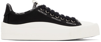 Moncler Black Canvas Glissiere Sneakers