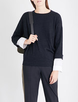 Brunello Cucinelli Layered wool and cashmere-blend jumper