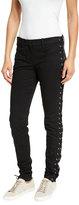 A.L.C. Dent Laced Skinny Jeans, Black