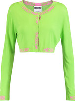 Moschino Cropped stretch-knit top
