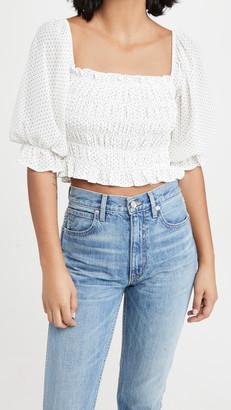 re:named apparel Beatriz Smocked Top