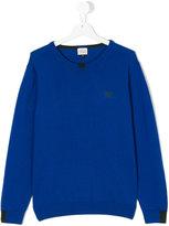 Armani Junior classic logo pullover - kids - Cotton/Wool - 14 yrs