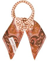 Pierre Balmain Ornate Print Silk Scarf