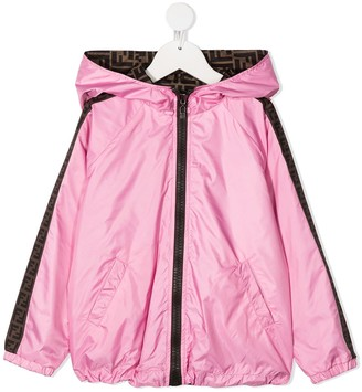 Fendi Kids reversible Double-F hooded jacket