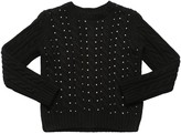 Philosophy di Lorenzo Serafini Embellished Wool Blend Knit Sweater