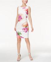 Calvin Klein Printed Starburst Sheath Dress