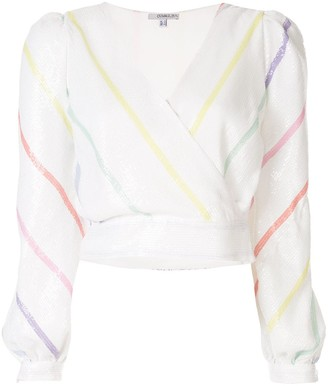 Olivia Rubin Striped Long-Sleeved Top