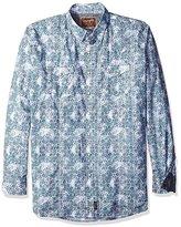 Wrangler Men's Tall Size Retro Western Long Sleeve Woven Shirt