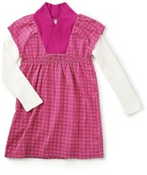 Tea Collection Aka - Double Decker Kimono Neck Dress (Toddler, Little Girls, & Big Girls)