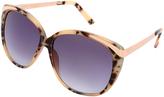 Betsey Johnson Tokyo Tortoise Metal-Trim Oversize Sunglasses