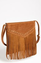 Thumbnail for your product : BP Studded Fringe Crossbody Bag Brown