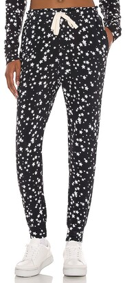 Stripe & Stare Black With White Star Loungepants