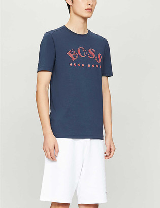 HUGO BOSS Logo-print cotton-jersey T-shirt