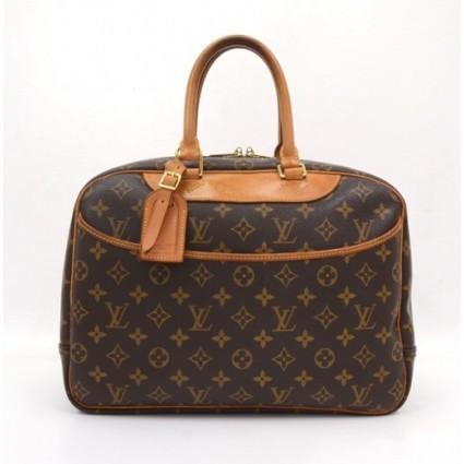 Louis Vuitton very good (VG Brown Monogram Canvas Deauville Large Handbag