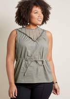 ModCloth Fashion Your Fairytale Sleeveless Top in Slate in M