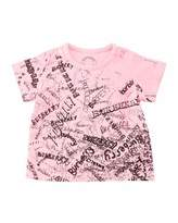 Burberry Rea Scribbles T-Shirt, Bright Pink, Size 6M-3