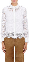R/R Studio by Robert Rodriguez Women's Poplin-Trimmed Lace Blouse-WHITE