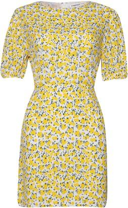Glamorous Petites Womens **Floral Print Puff Sleeve Skater Dress By Glamorous Petite - Yellow