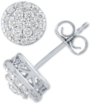 Forever Grown Diamonds Lab Grown Diamond Cluster Halo Stud Earrings (1/2 ct. t.w.)
