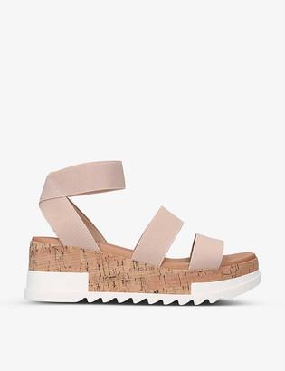 Steve Madden Bandi stretch-woven platform sandals
