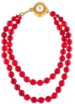 Chanel Gripoix Double Strand Necklace