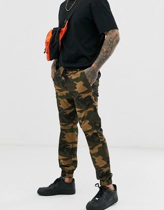 Cotton On cuffed camo trouser